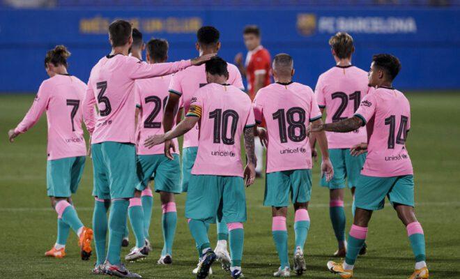 barcelona memenangkan pertandingan