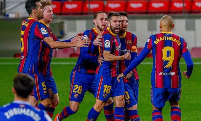 barcelona harus menang kontra huesca