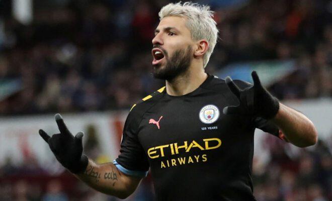 striker sergio aguero