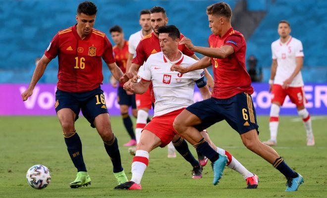 spanyol vs polandia berakhir imbang