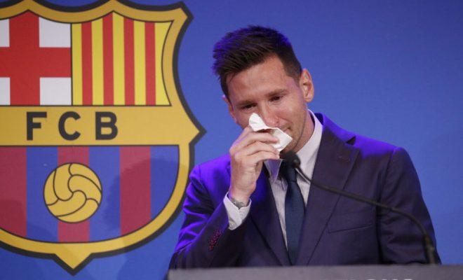 ucapan selamat tinggal messi ke barcelona