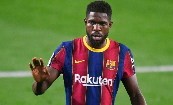 samuel umtiti ingin bertahan di barcelona